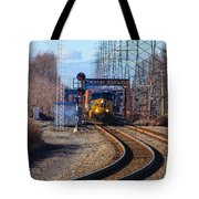 Csx Coming Towards Bound Brook Station Tote Bag