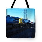 Csx Engines Going Bye Bound Brook Train Stations Tote Bag