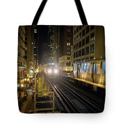 Cta Meet At The State-lake Street Station Chicago Illinois Tote Bag