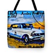 Cuba Antique Auto 1957 Mercury Monterrey Tote Bag