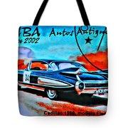 Cuba Antique Auto 1959 Fleetwood Tote Bag
