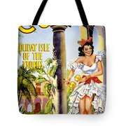 Cuba Holiday Isle Of The Tropics Vintage Poster Tote Bag