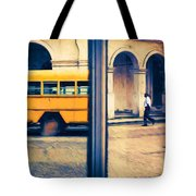 Cuban School Bus And Driver Tote Bag
