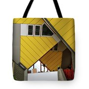 Cube Houses Detail In Rotterdam Tote Bag