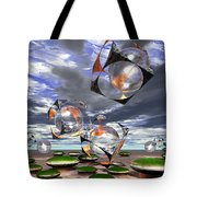 Cubes Capture Spheres In Another World Tote Bag