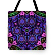 Cubic Kaleidoscope Tote Bag