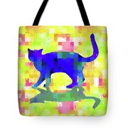 Cubist Cat Tote Bag