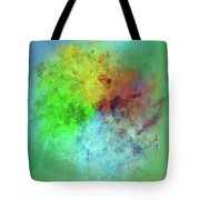 Cubist Rainbow Clouds Tote Bag