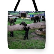 Cubs At The Playground Tote Bag