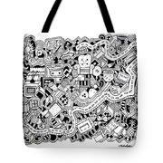 Cuddlebug Tote Bag by Chelsea Geldean