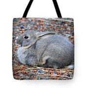 Cuddly Campground Bunny Tote Bag