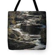 Cullasaja Falls In Autumn Close Up Tote Bag