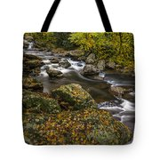 Cullasaja River In Autumn Tote Bag