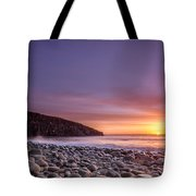 Cullernose Point At Sunrise Tote Bag