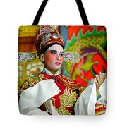 Cultural Opera Actor In Red Tote Bag