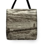 Cumbres Toltec Railroad Nm Sepia Dsc04065 Tote Bag