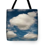 Cumulus Clouds With Nature Patterns Tote Bag