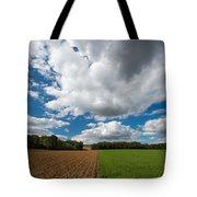 Cumulus Skies In France Tote Bag