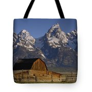 Cunningham Cabin In Front Of Grand Tote Bag by Pete Oxford