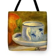 Cup And Oranges Tote Bag