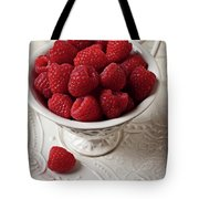 Cup Full Of Raspberries  Tote Bag