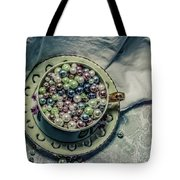 Cup Of Beads Tote Bag