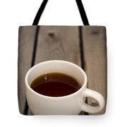 Cup Of Black Coffee On Bare Table Tote Bag