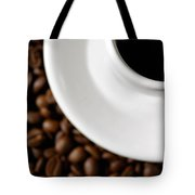Cup Of Black Coffee On Coffee Beans Tote Bag