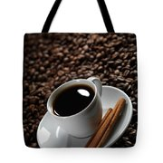 Cup Of Coffe On Coffee Beans Tote Bag