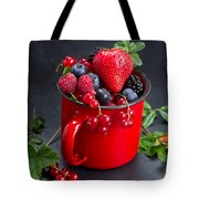 Cup Of Fresh Berries Tote Bag