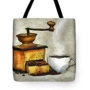 Cup Of The Hot Black Coffee Tote Bag