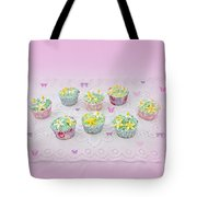 Cupcakes And Butterflies Tote Bag