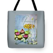 Cupcakes And Gaufrettes Beside A Candle Tote Bag