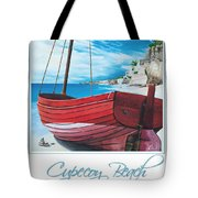 Cupecoy Beach Poster Tote Bag