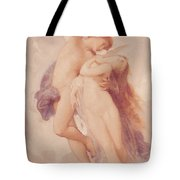 Cupid And Psyche Tote Bag by William Adolphe Bouguereau