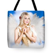 Cupid Angel Of Love Flying High With Fairy Wings Tote Bag