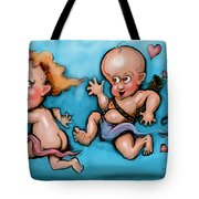 Cupid's Chase Tote Bag