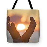 Cupped Hands Tote Bag