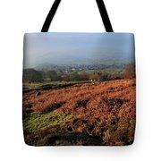 Curbar Edge Curbar Valley Derbyshire Tote Bag