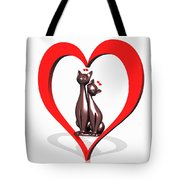 Curiosity Heart Loves The Cats Tote Bag