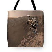 Curiosity Rover Self-portrait Tote Bag