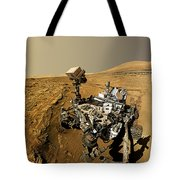 Curiosity Self-portrait At Windjana Drilling Site Tote Bag