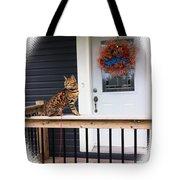 Curious Bengal Cat Tote Bag