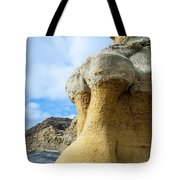 Curious Cliff Tote Bag