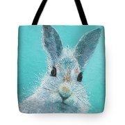 Curious Grey Rabbit Tote Bag