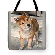 Curious Shiba Inu Tote Bag