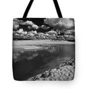 Curl Curl Beach With Dramatic Sky Tote Bag