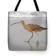 Curlew In The Surf Tote Bag