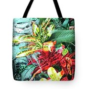 Curley Crotons Tote Bag