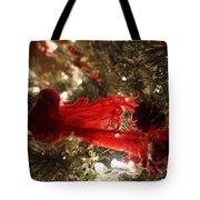 Curly Cardinal Tote Bag